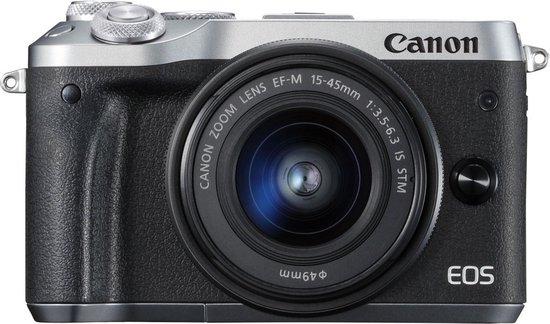 Canon EOS M6 + 15-45mm - Zilver