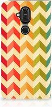 Nokia 8.1 Hoesje met Magneet Zigzag Color