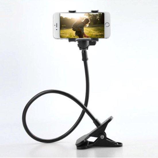 Universele Flexibele Telefoonhouder - 360 graden - Auto en fiets telefoonhouder met klem (Zwart) geschikt voor iPhone Samsung HTC Sony Google Huawei