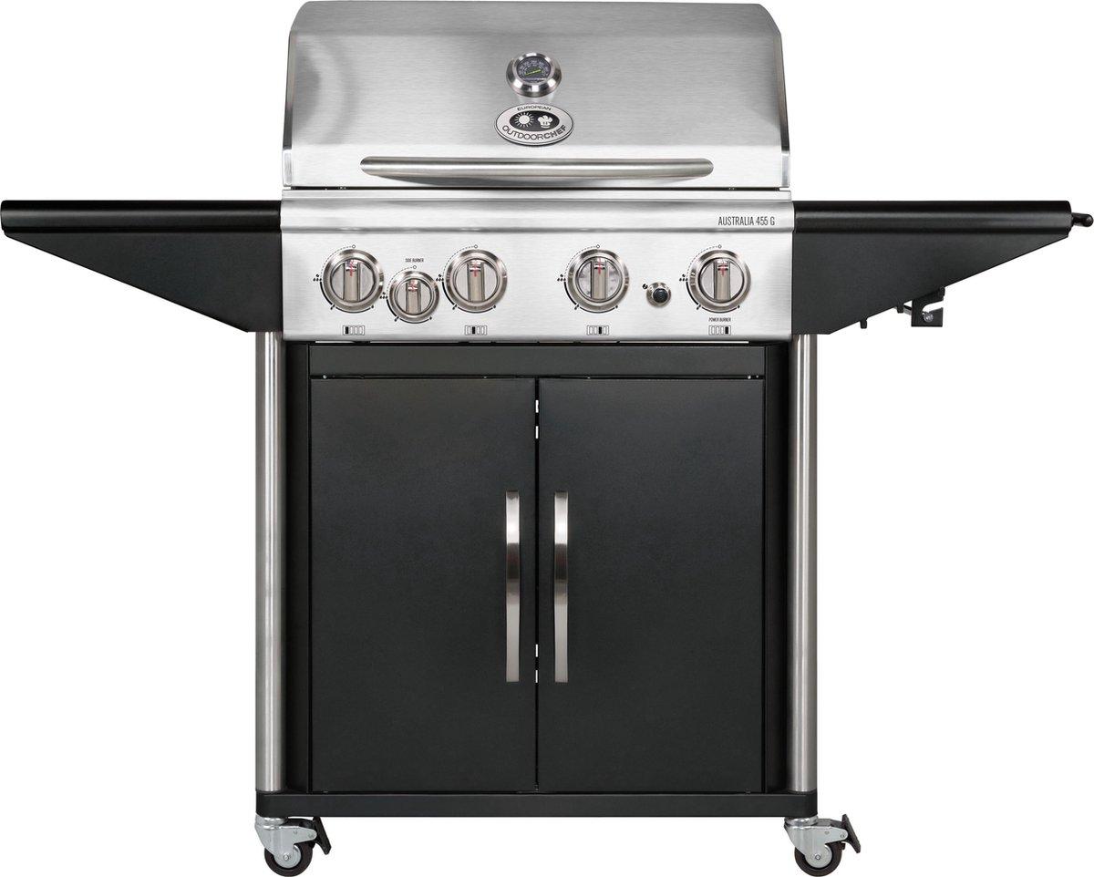 Outdoorchef Australia 455 G Gasbarbecue - 5 branders - Zwart