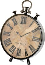 Riverdale Nate - Tafelklok - 42cm - bruin