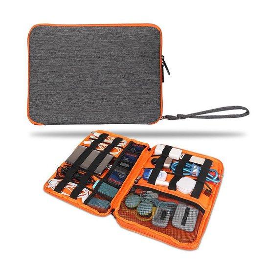 Kabel Tas organizer - Travel Bag Organiser - 2 lagen - Oranje