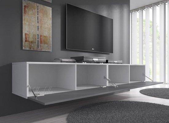 TV-Meubel Flame - Grijs - Wit - 200 cm - MEUBELLA