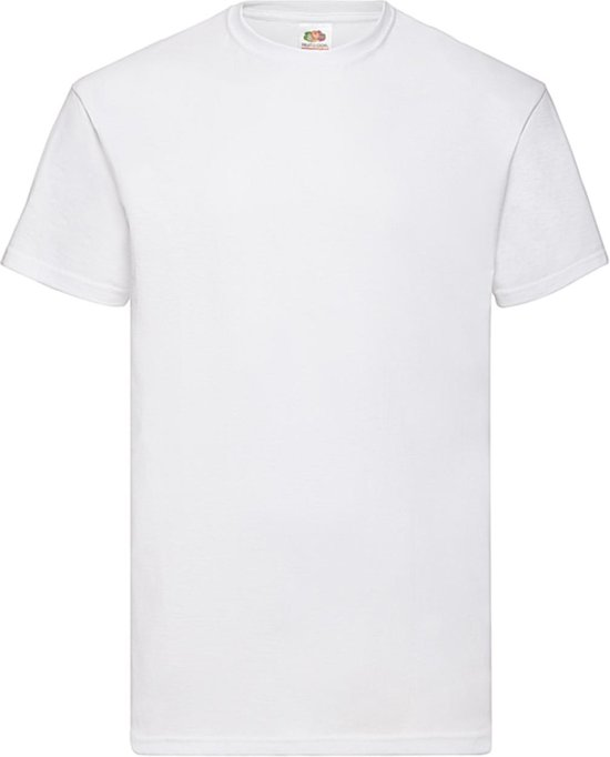 12 pack witte shirts Fruit of the Loom ronde hals maat XXL Valueweight