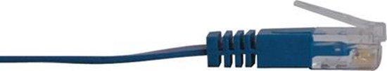 Tripp Lite N201-025-BL-FL netwerkkabel 7,62 m Cat6/6e/6a Blauw
