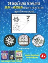 Cut and Glue Activities (28 snowflake templates - easy to medium difficulty level fun DIY art and craft activities for kids)