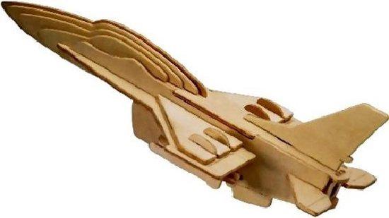 bol houten bouwpakket 3d puzzel straaljager f 16