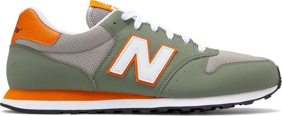 New Balance GM500  Sneakers - Maat 44 - Unisex - olijfgroen/grijs/wit/oranje