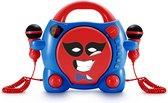 Bigben My Billy Draagbare Karaoke CD-Speler - 2 Microfoons - Rood/Blauw