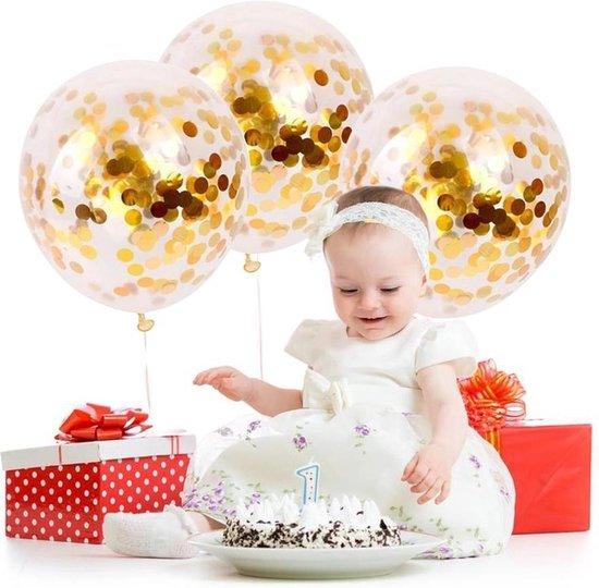 10 confetti ballonnen goud Ideaal voor feesten en andere gelegenheden