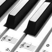 Afbeelding van Pianostickers - piano - stickers - Keyboard - Leer noten lezen - Piano leren spelen - Verwijderbaar - Transparant - Voor 49, 61 of 88 toetsen