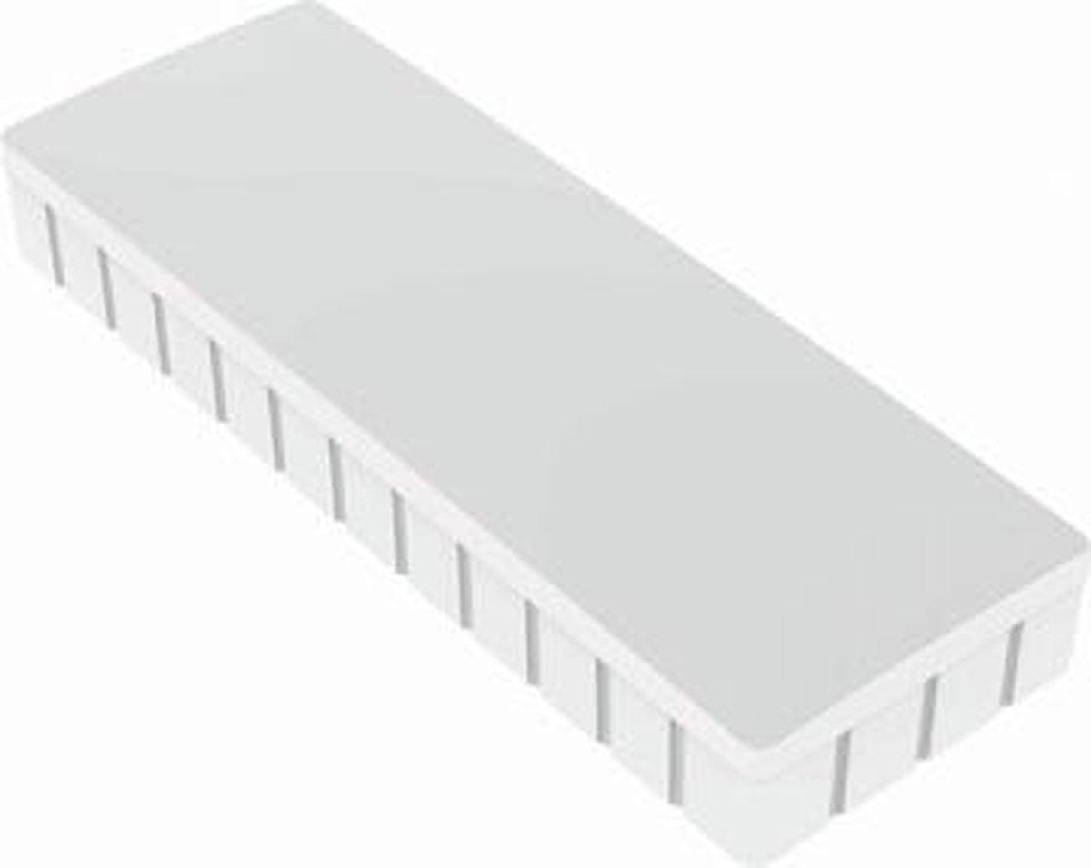 Maul Magneet Maulsolid (B X H X D) 54 X 19 X 9 Mm Rechthoekig Wit 10 Stuks 6165002
