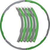 Tunturi Fitness Hoelahoep - Fitness hoepel - Fitness hulahoop - 1,2 kg - Groen/Grijs