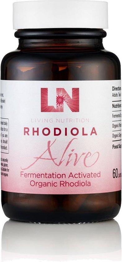 Living Nutrition / Rhodiola Alive – Gefermenteerde Rhodiola Capsules – Bio 60 stuks