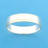 TFT Ring A417 - 5 Mm - Zonder Steen Bicolor Goud