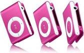 Mini MP3 speler met in-ear koptelefoon Roze