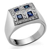 Orphelia RD-33153/55 - Ring - Witgoud 18 Karaat - Diamant 0.25 ct / Saffier 0.40 ct