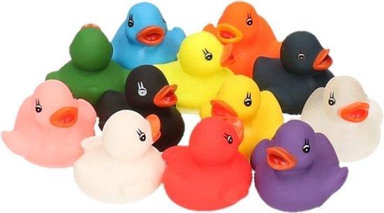 Afbeelding van Badeendjes gekleurd 12 stuks speelgoed