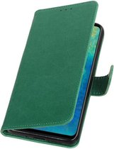 Groen Pull-Up Booktype Hoesje voor Huawei Mate 20