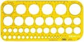 Cirkelsjabloon 1- 36 MM transparant geel