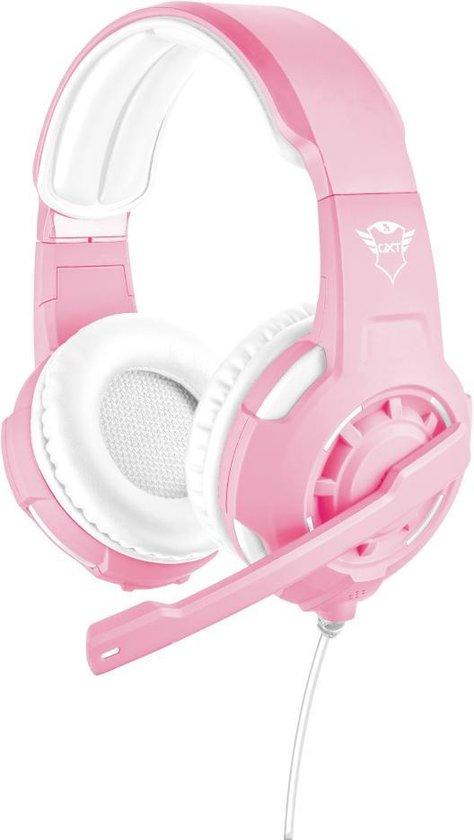 Trust GXT 310 Radius - On-ear Gaming Headset voor PS4 en PC - Roze/Wit