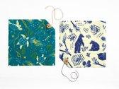 Bee's Wrap Bee's Wrap Set Van 2   Bijtjes & Beren & Oceanen