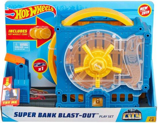 Afbeelding van Hot Wheels City Super Bank Blast Out - Speelset speelgoed