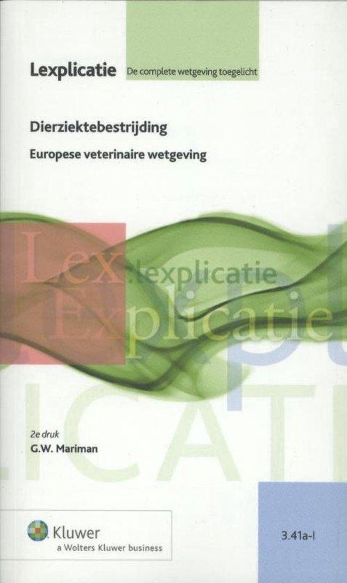 Lexplicatie 3.41a-I - Dierziektebestrijding - G.W. Mariman |