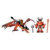 Dragons Draak & Viking Snotlout en Hookfang Speelfiguren