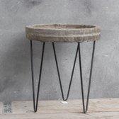 Decoratie tafeltje grey wash Medium 32 x 28 cm hoog