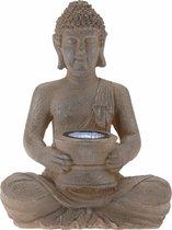 Solar lamp boeddha bruin / grijs 28 cm