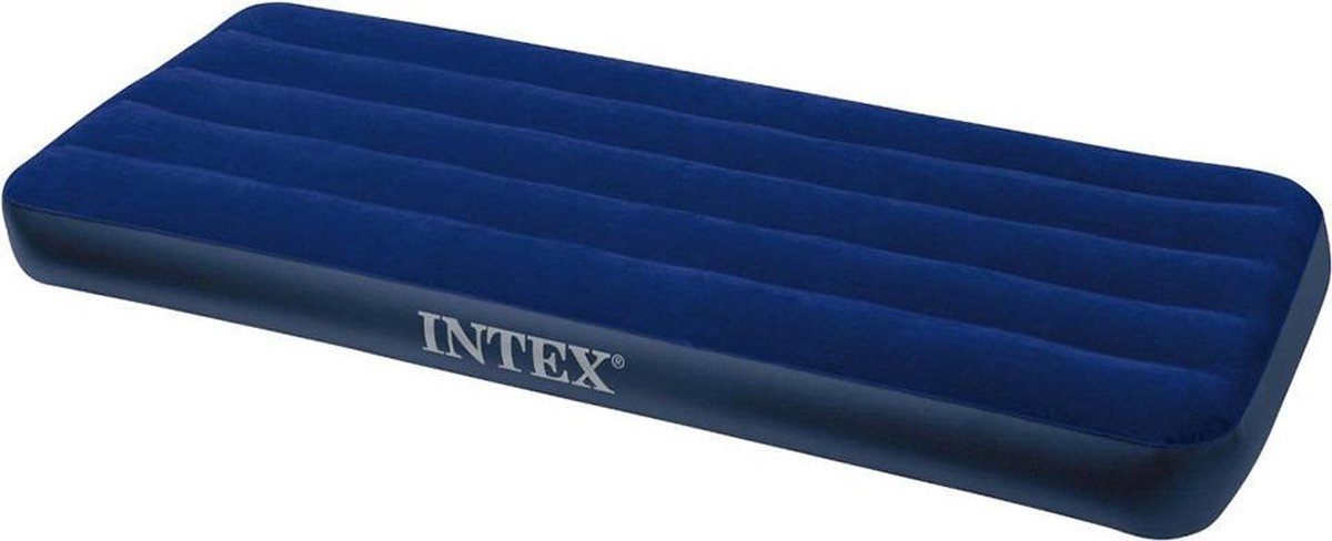Intex Downy Twin Luchtbed - 1-persoons - 191x99x22 cm - Intex