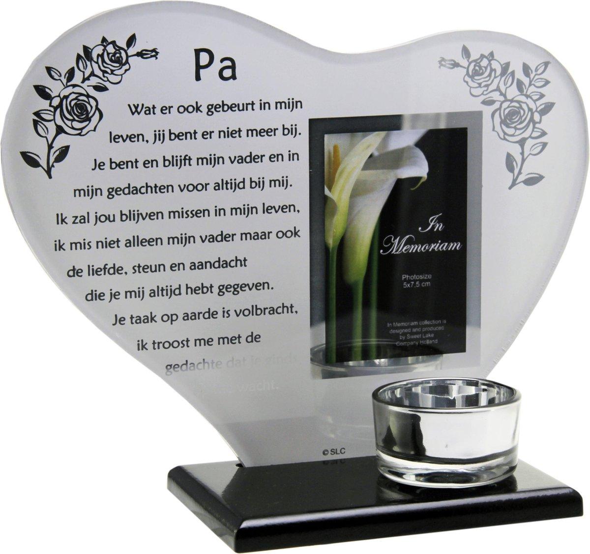 Super bol.com | Waxinehouder in memoriam overleden glas hart met gedicht VR-44