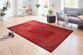 Vintage vloerkleed Plume - rood 80x150 cm