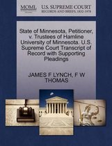 State of Minnesota, Petitioner, V. Trustees of Hamline University of Minnesota. U.S. Supreme Court Transcript of Record with Supporting Pleadings