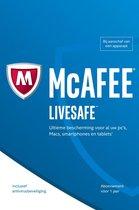 McAfee Livesafe - Nederlands / 5 Apparaten 1 Jaar