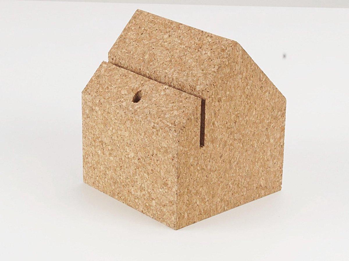 Amorim Cork Korko Selection DR House Organiser - Kurk - 12 x 12 x 14 cm - Bruin