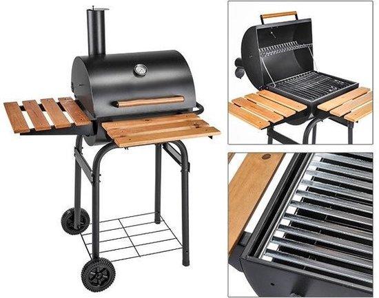 Houtskool barbecue Serge american smoker, met asbak zwart