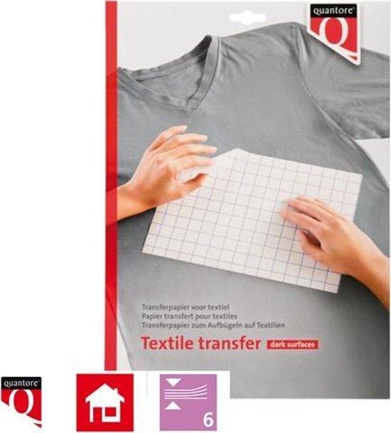 Afbeelding van Transferpapier voor textiel - 6 vellen - donkere kleding