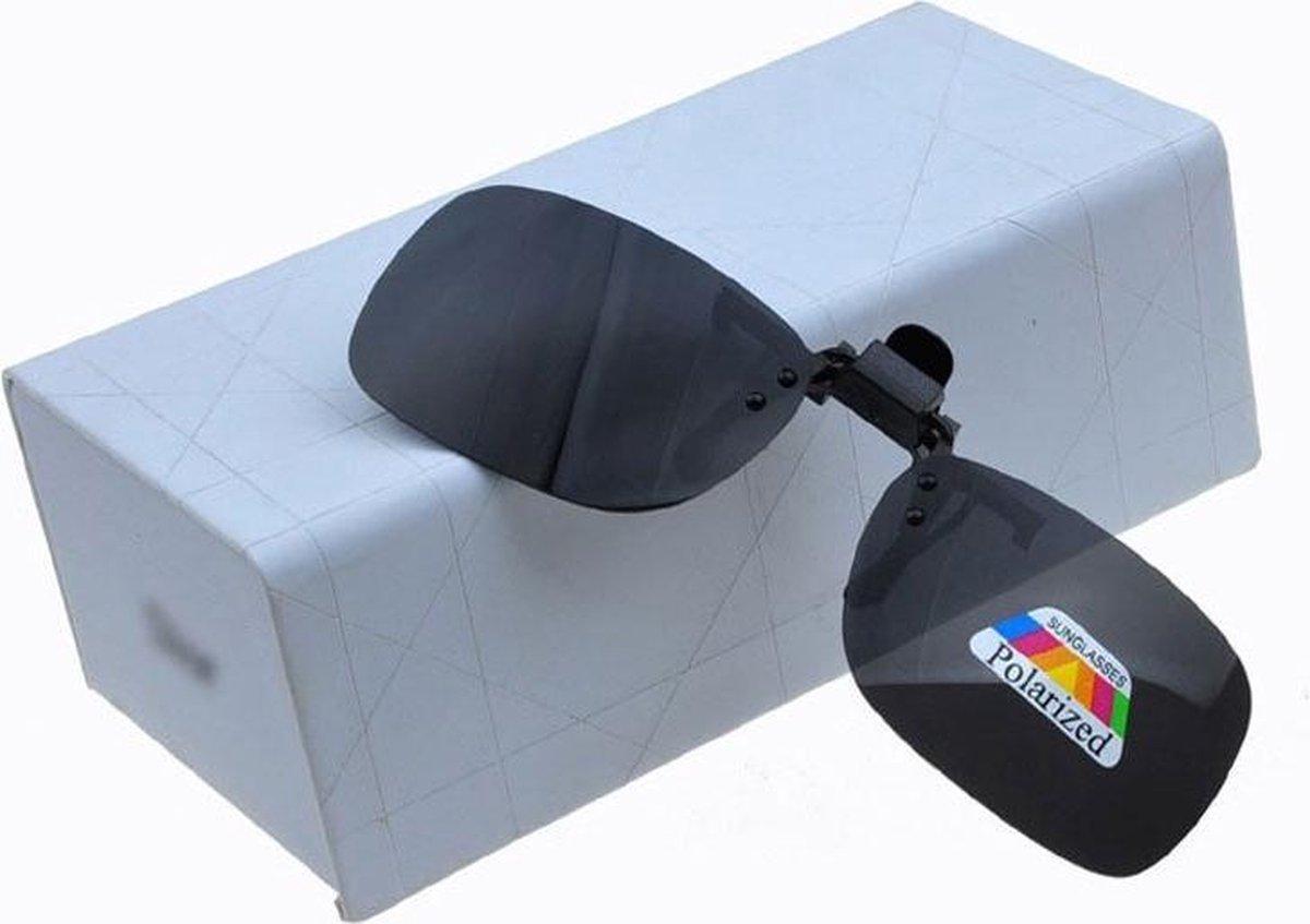 Clip On Voorzet Zonnebril - Voorhanger Opzet Zonnebril Gepolariseerd - Zwart