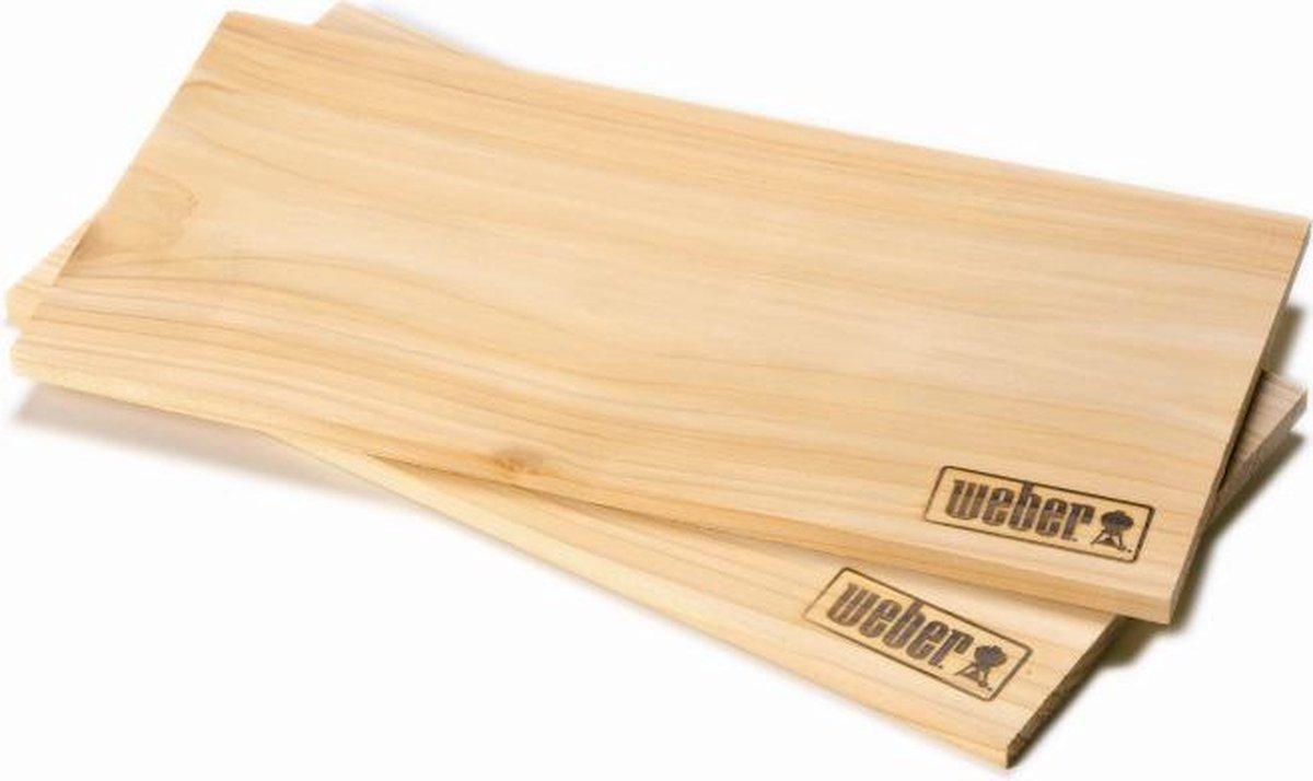 Weber® Cederhouten Rookplank Groot - Rookhout