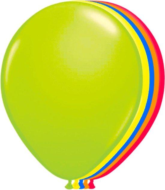 Meerkleurige set neon kleur ballonnen - 100 stuks