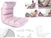 Vloerstoel - Yoga meditatie kussen mat - loungekussen - verstelbaar -roze