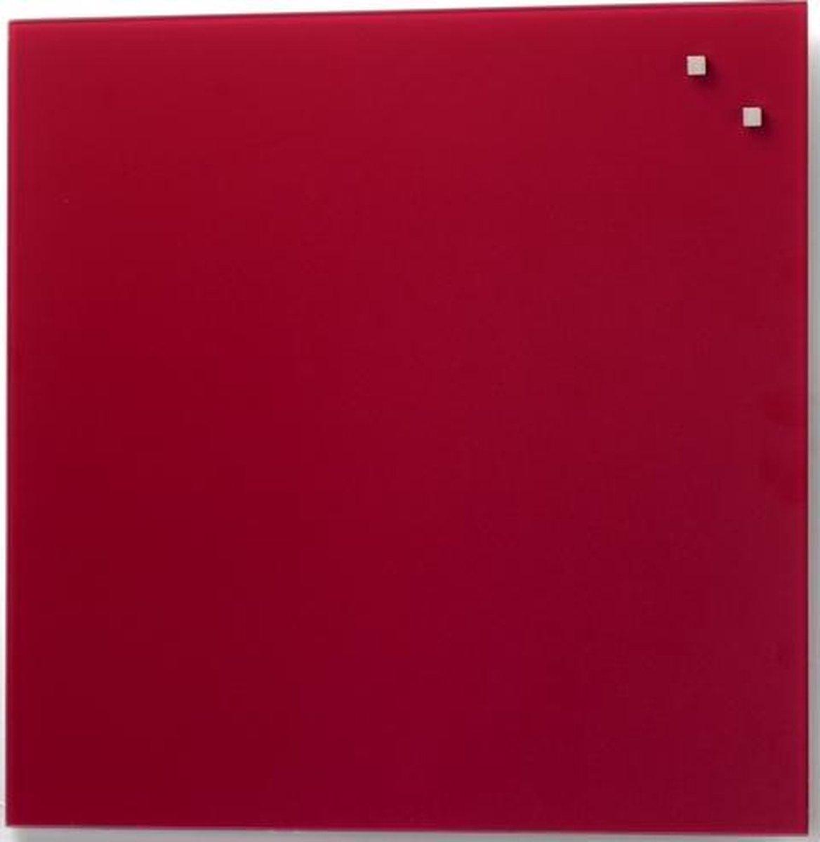 NAGA Glassboard 100x100cm Rood