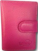 LeonDesign - 16-CC1514-29 - mapje voor pasjes en papiergeld - roze - leer