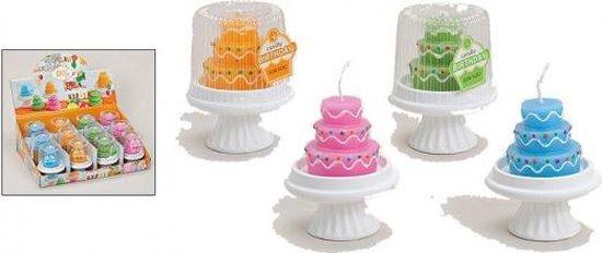 Verjaardag taart kaarsje 10 cm  groen