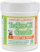 Herb Extract® Cannabis Zalf met Tea Tree Olie - 125ml - Antibacteriële, ontstekingsremmende zalf -geschikt voor behandeling van - verharde huid - eelt van de handen en voeten - voorkomt schimmel vorming