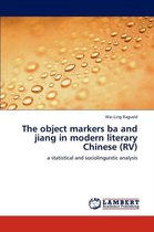 The Object Markers Ba and Jiang in Modern Literary Chinese (RV)