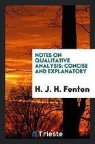 Notes on Qualitative Analysis