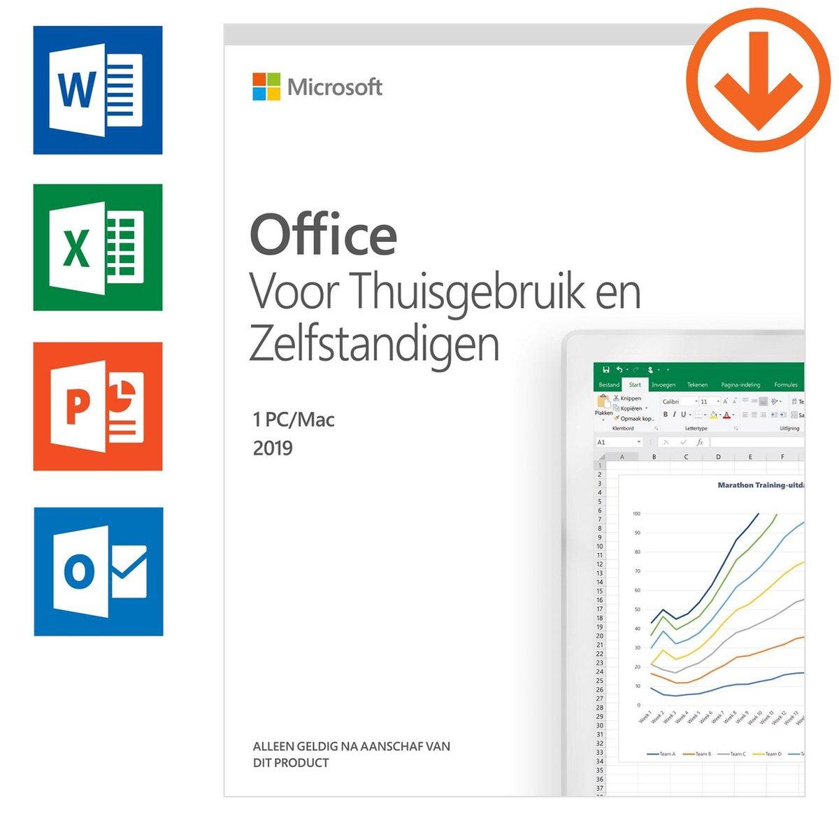 Microsoft Office 2019 Home & Business - Nederlands (download)